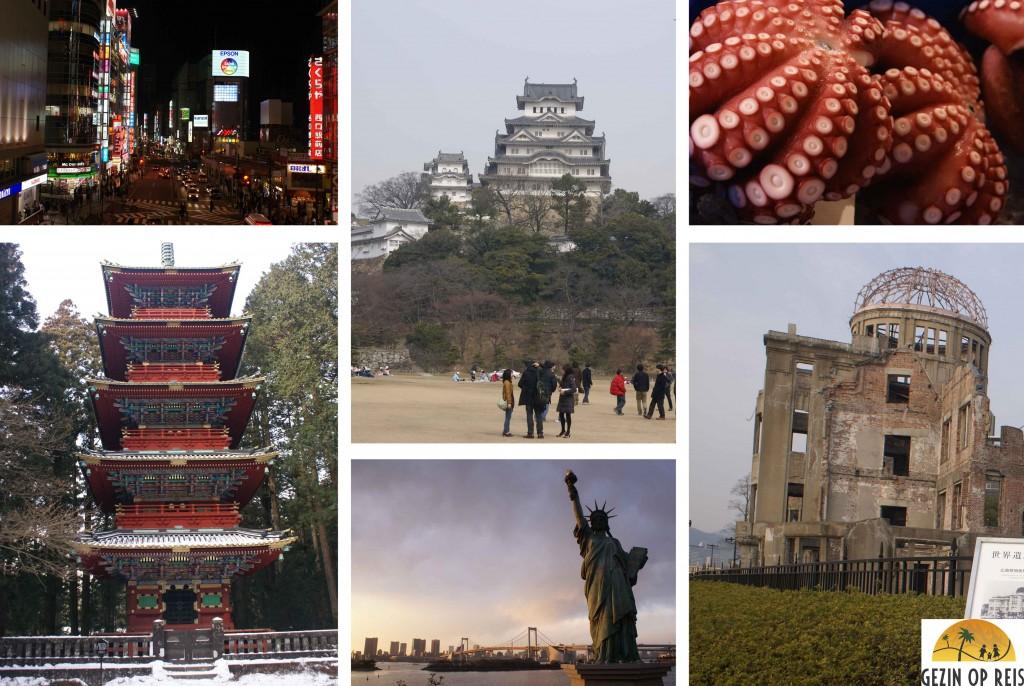 Tokyo, Nikko en Hiroshima