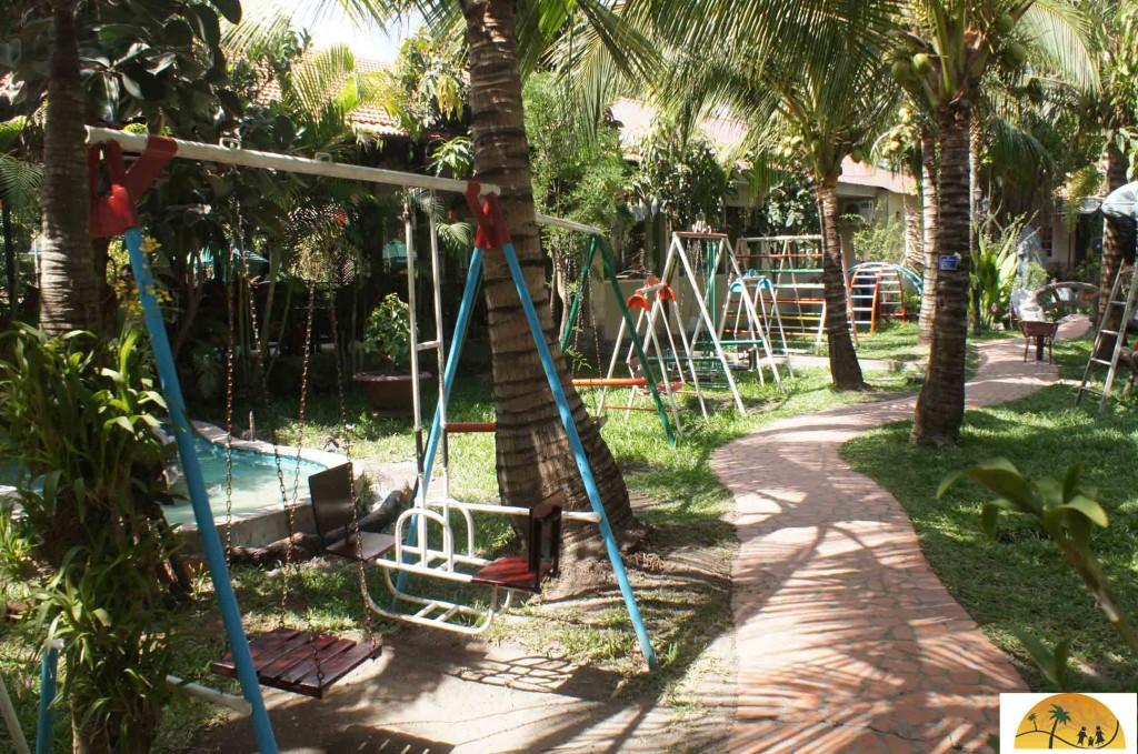 Speeltuin bij ons hotel in Vietnam