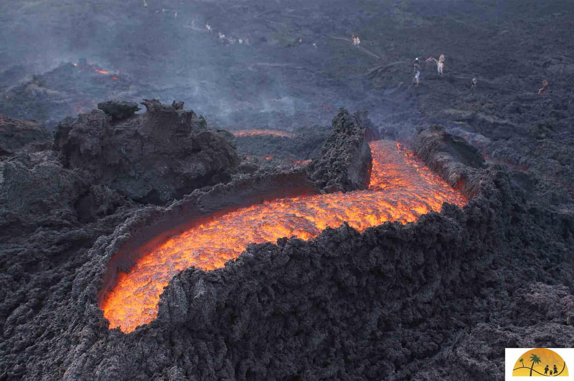 waar er vulkanen zijn in Rusland