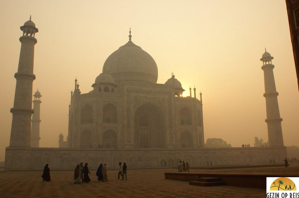 Zonsopkomst Taj Mahal