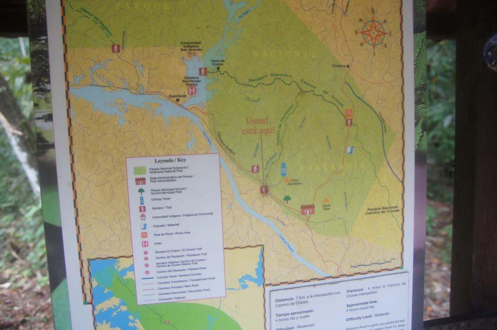 Soberania National Park kaart