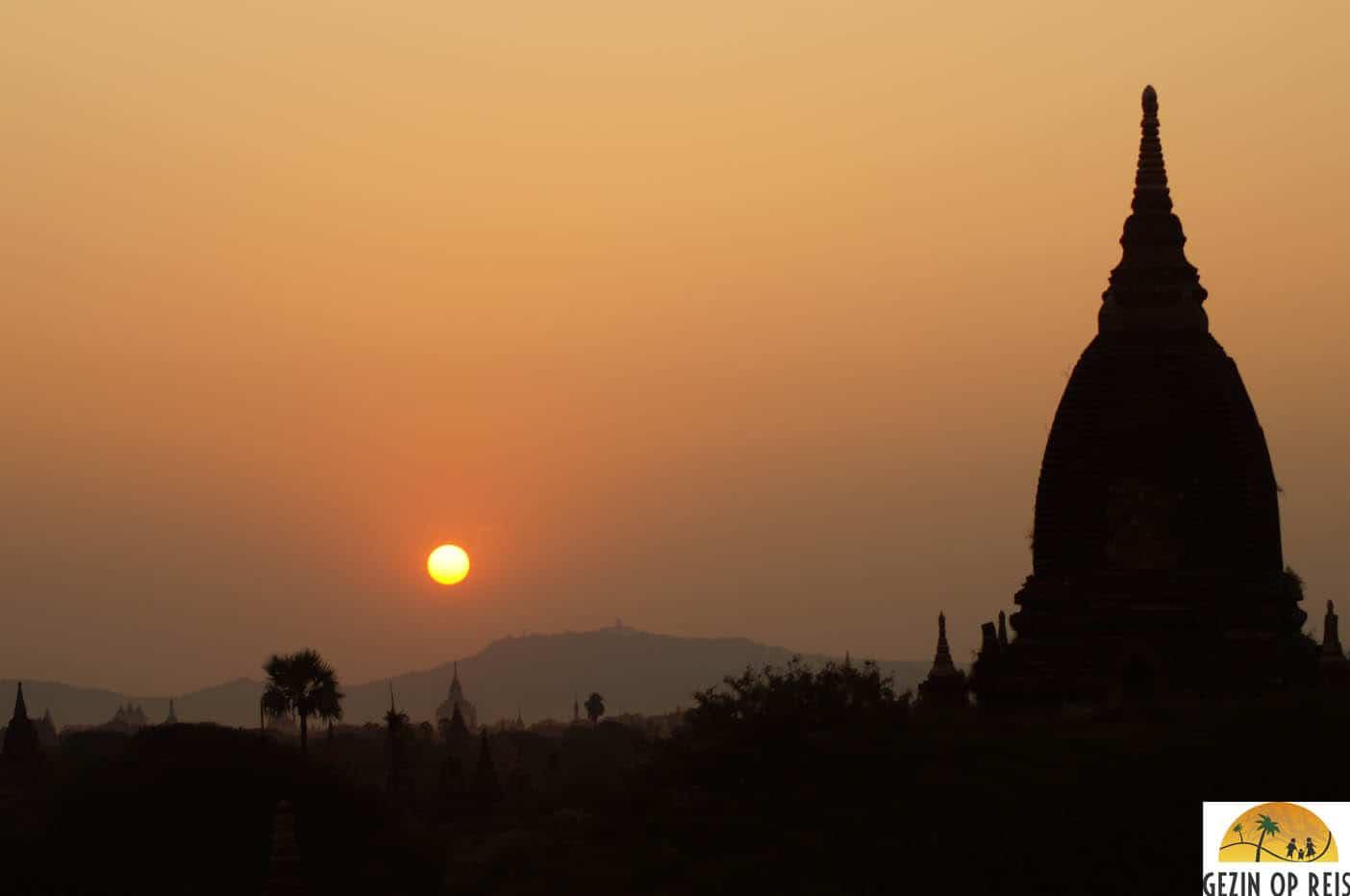 bagan alotawpyi gu hpaya zonsondergang