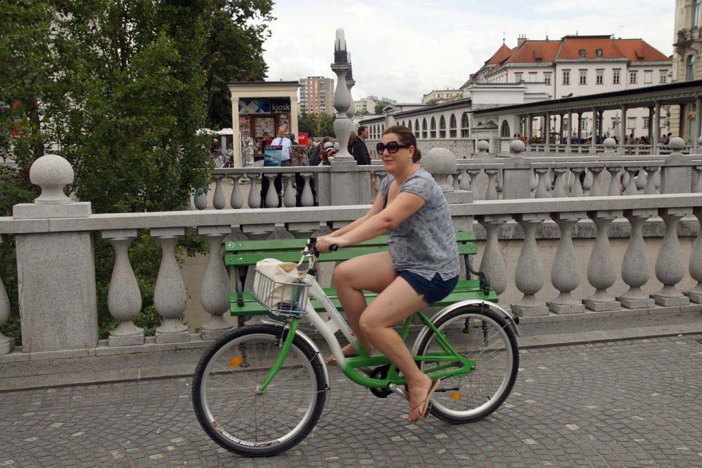 fietsen in Ljubljana