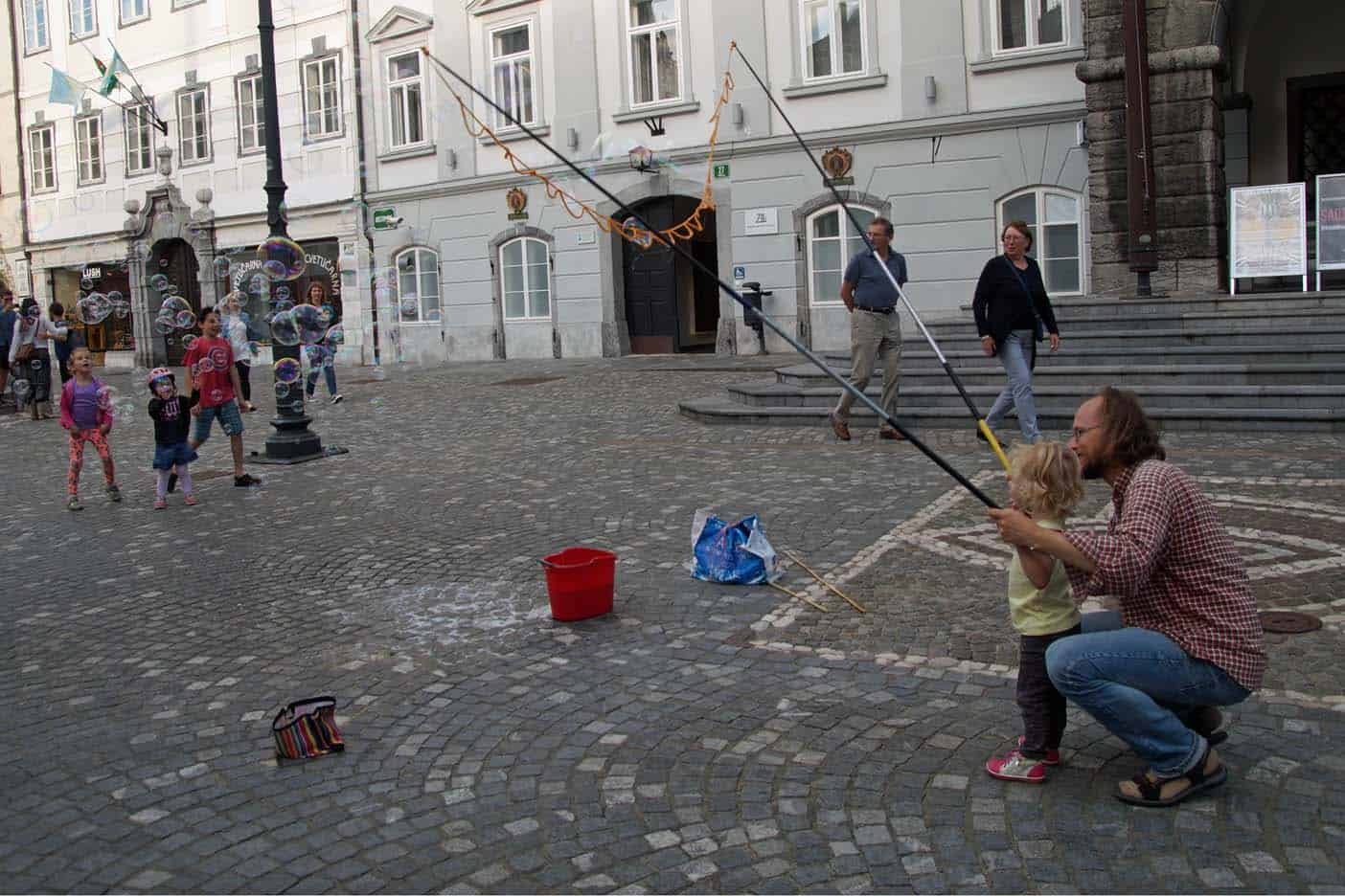 Ljubljana met kind