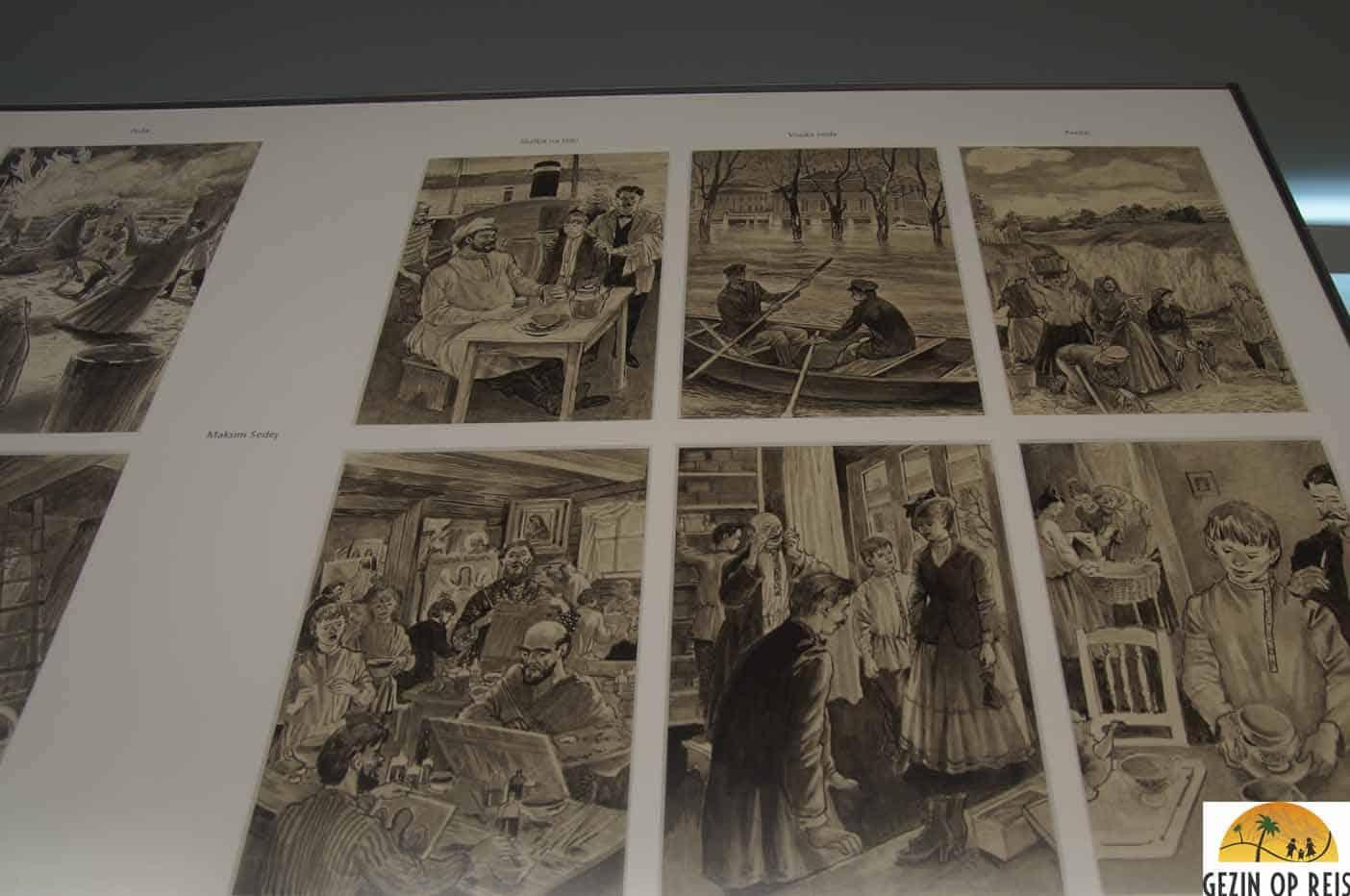 museum tekeningen