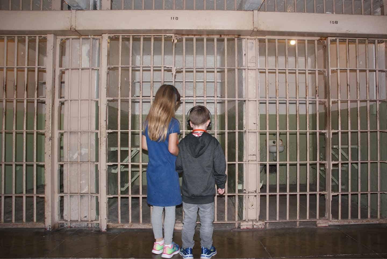 Alcatraz met kinderen