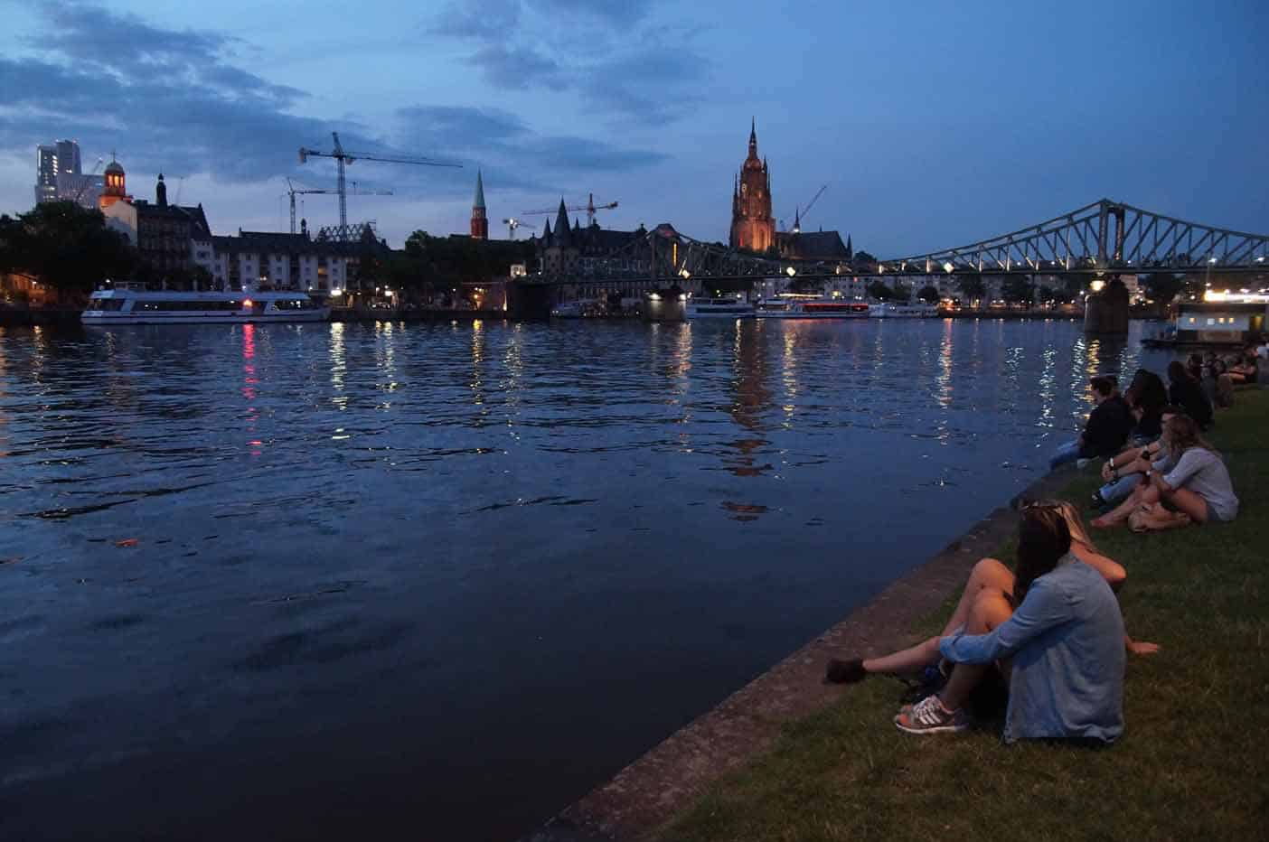 Frankfurt zomeravond