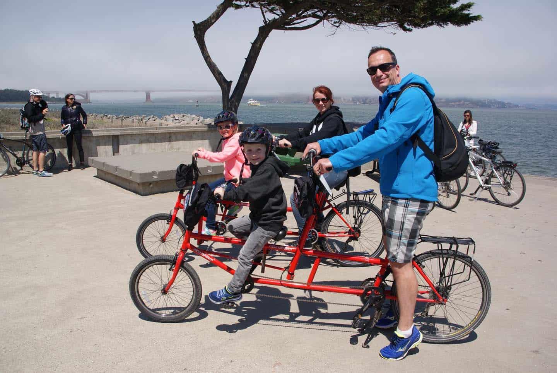 fietsen san fransisco met kinderen