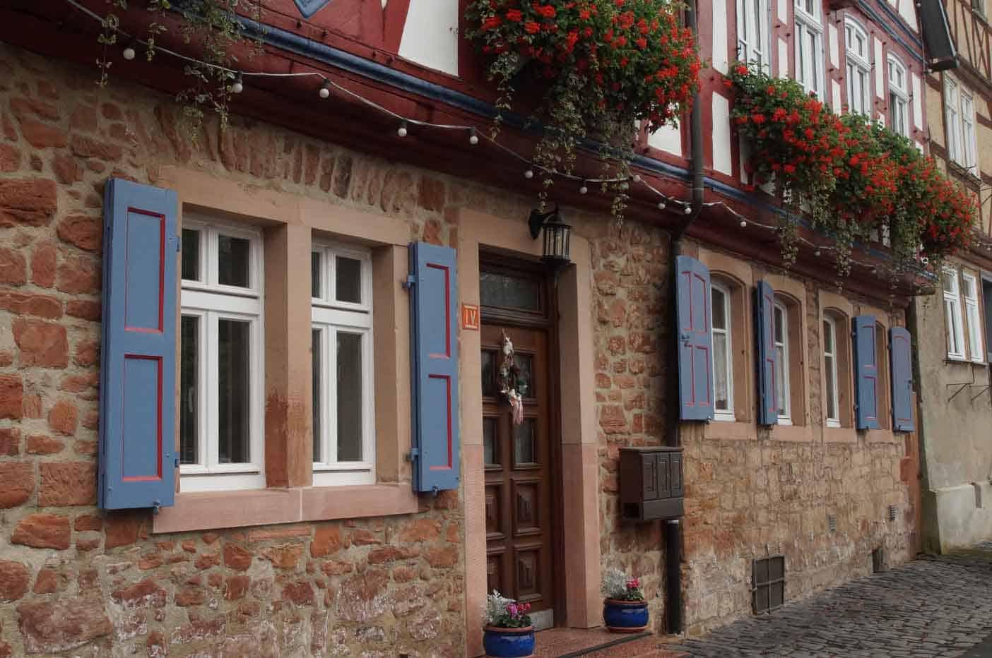 vakwerk stadje Büdingen Duitsland