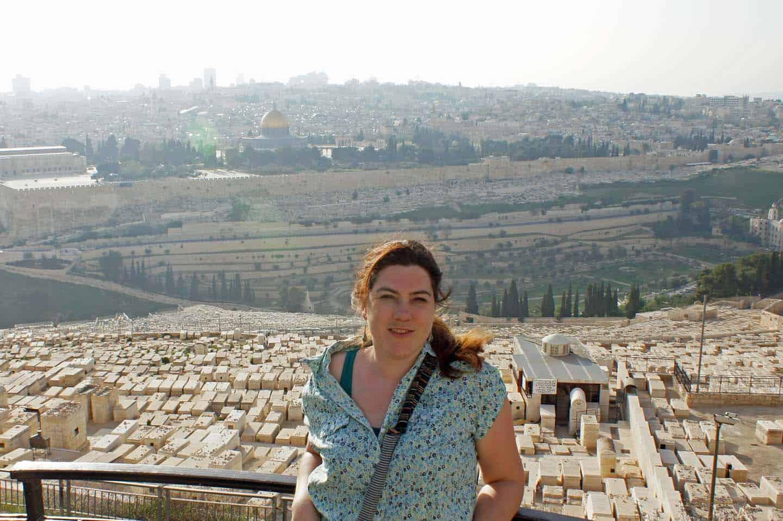 jeruzalem met kinderen olijfberg