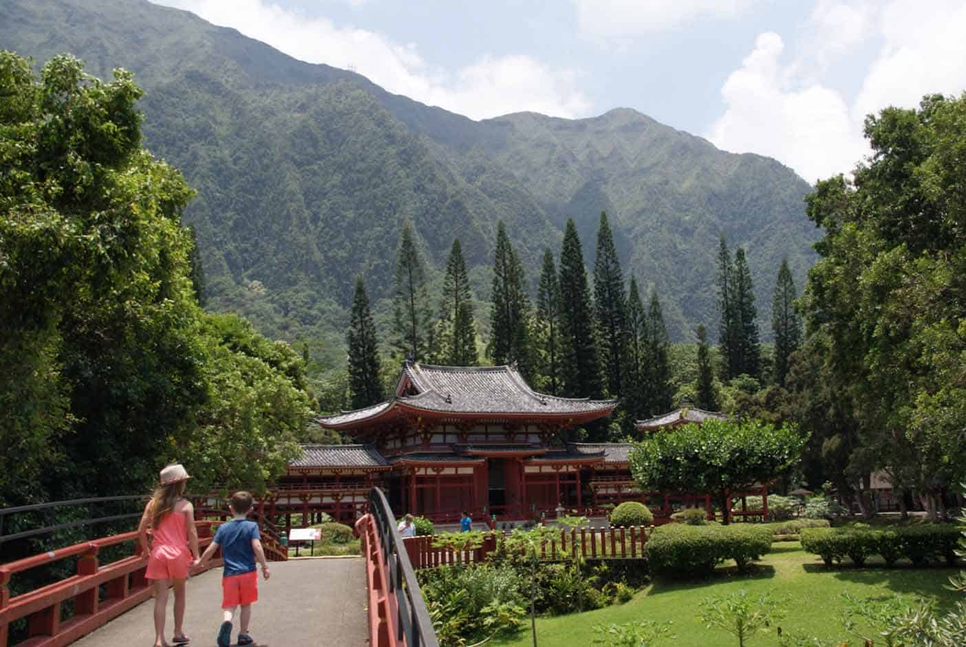 Hawaii met kinderen japanse tempel