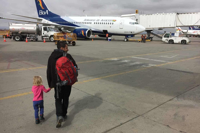 vliegen met een kind