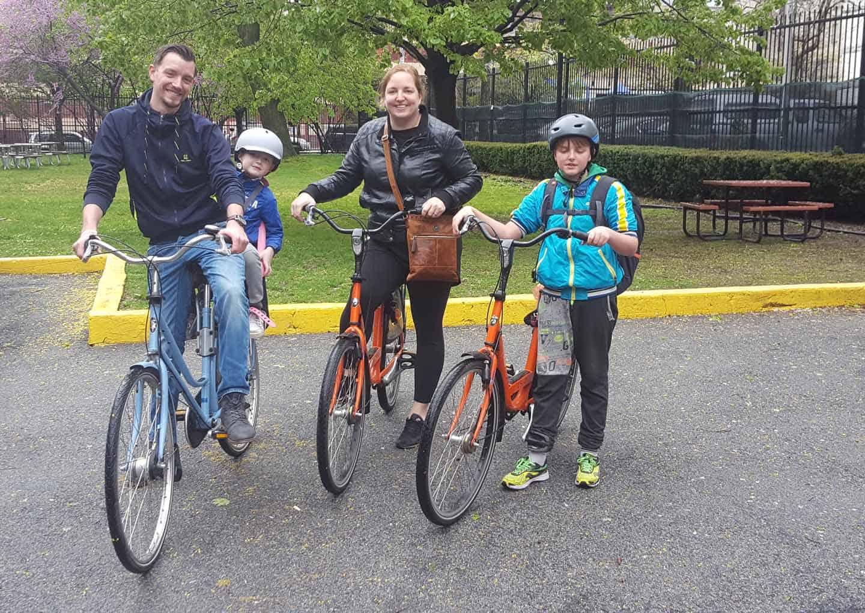 fietsen in central park