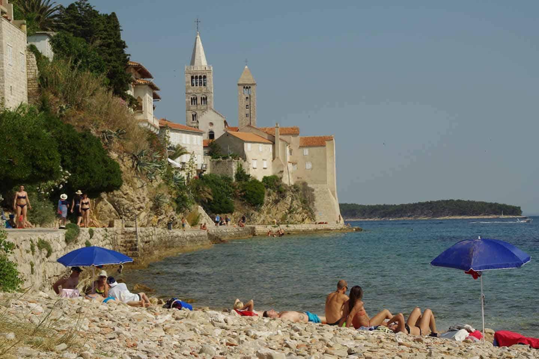 rab kroatie strand