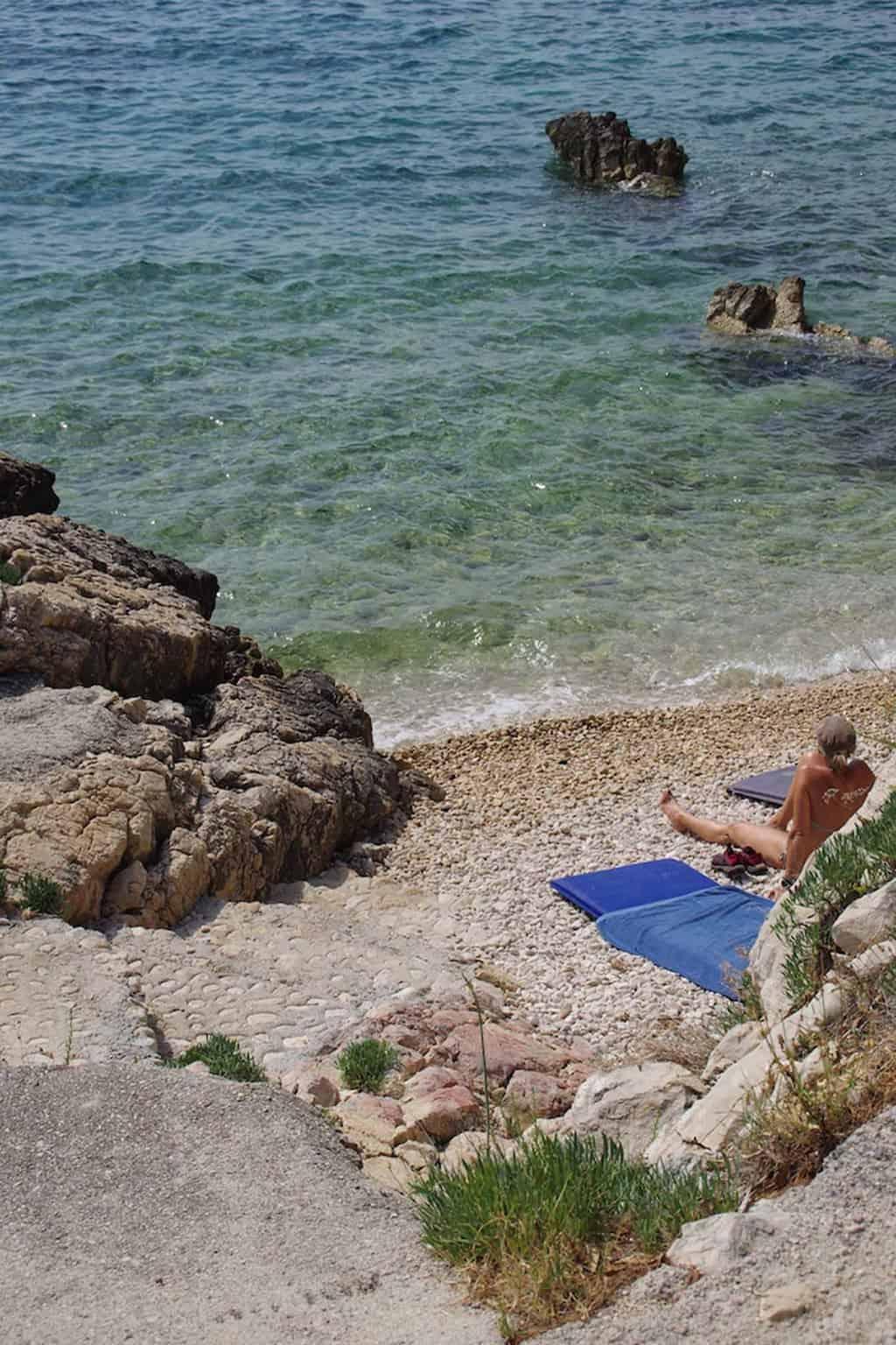 Rab Croatia beach Suha Punta