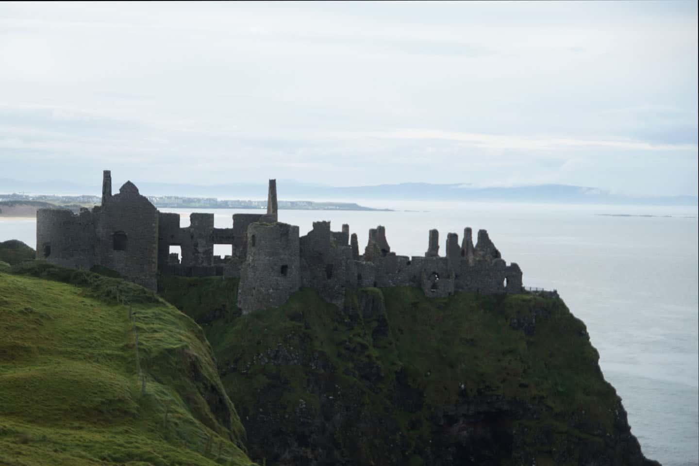 Dunlace kasteel ruïne