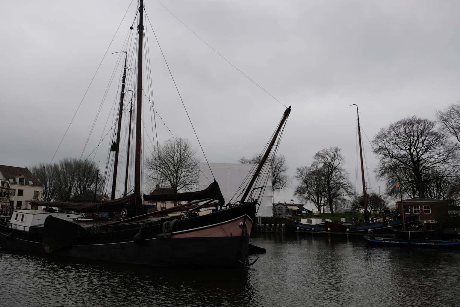 De museumhaven van Gouda