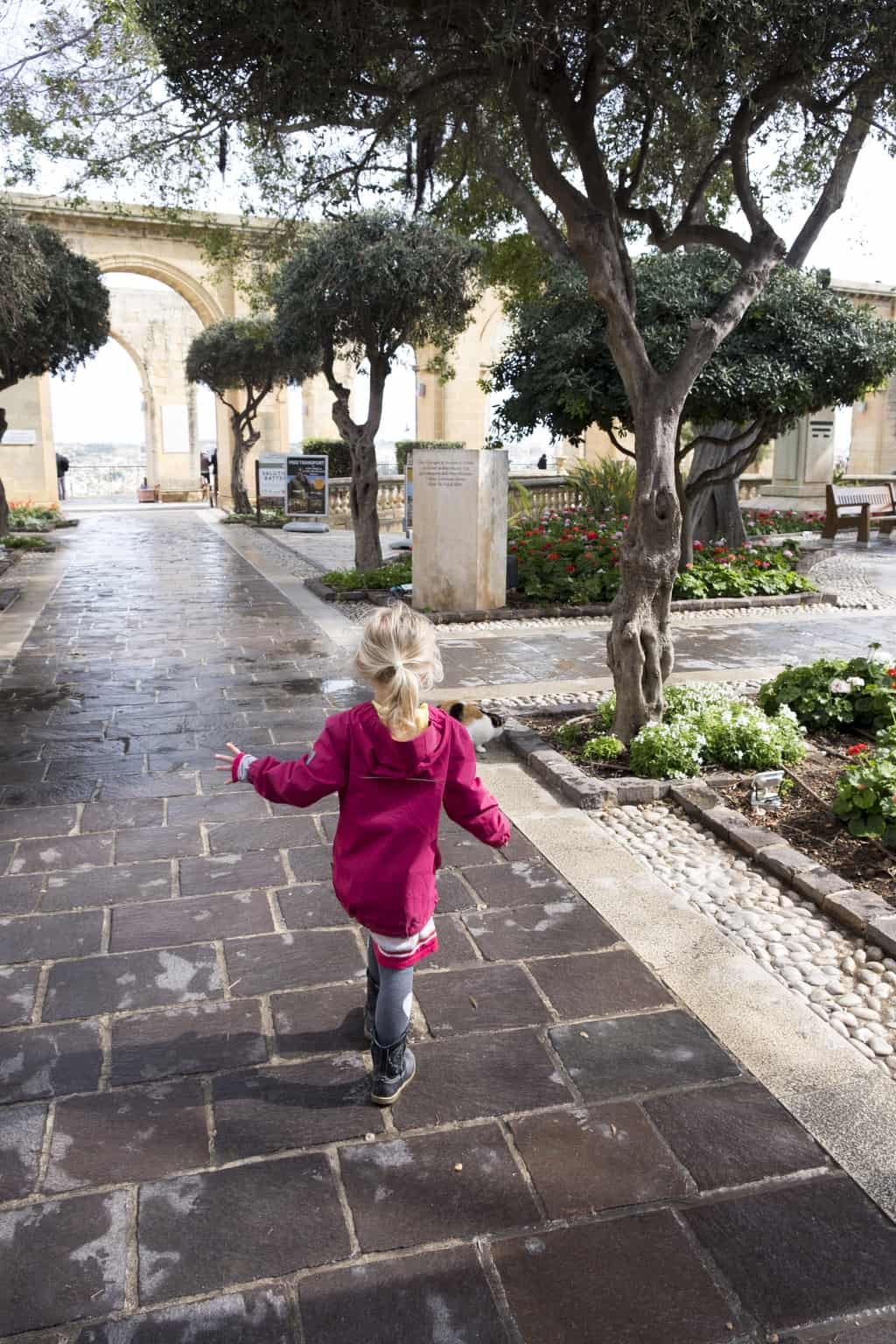 Lower Barrakka Gardens valletta met kinderen