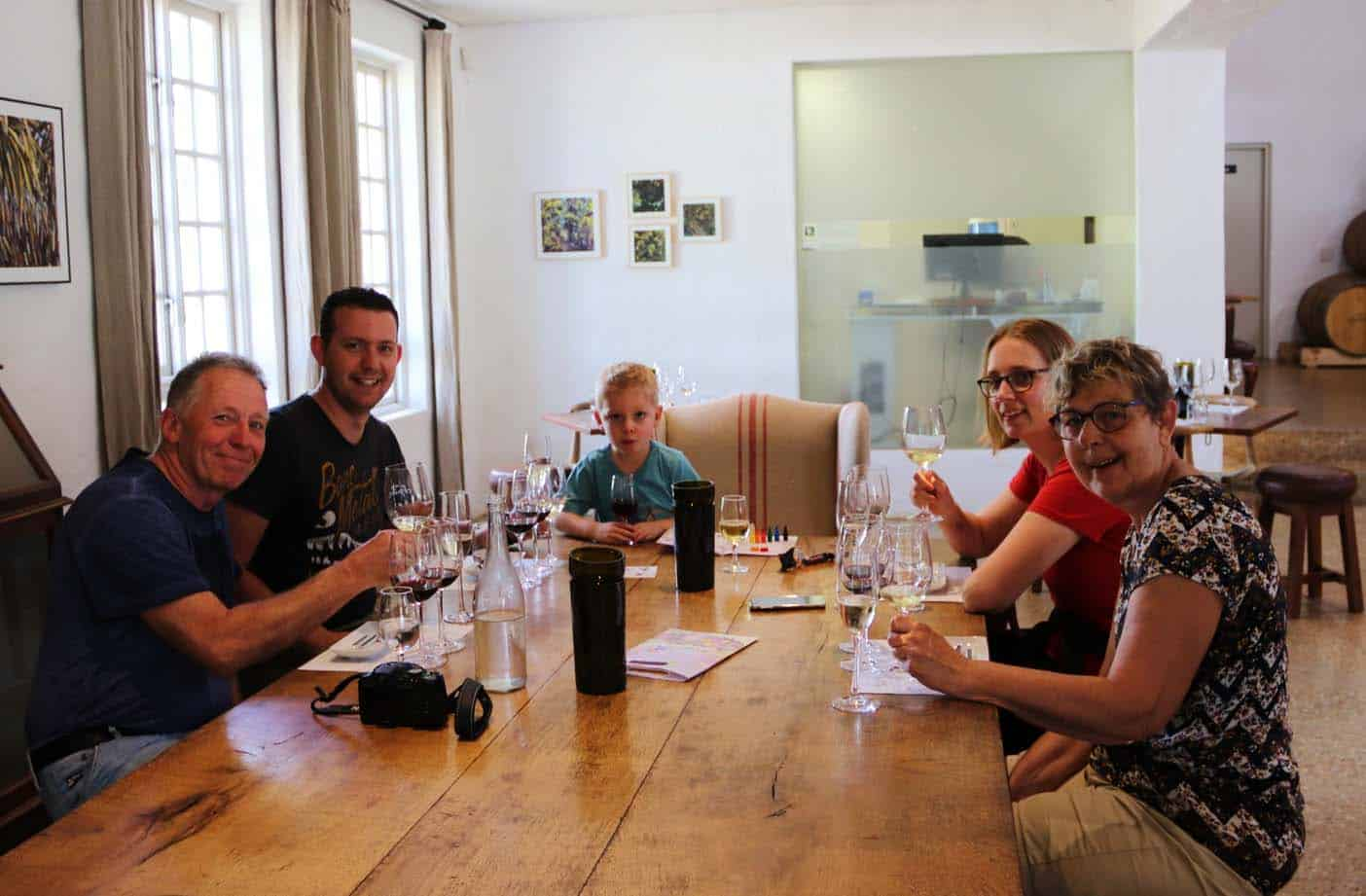wijnproeven zuid-afrika met kinderen