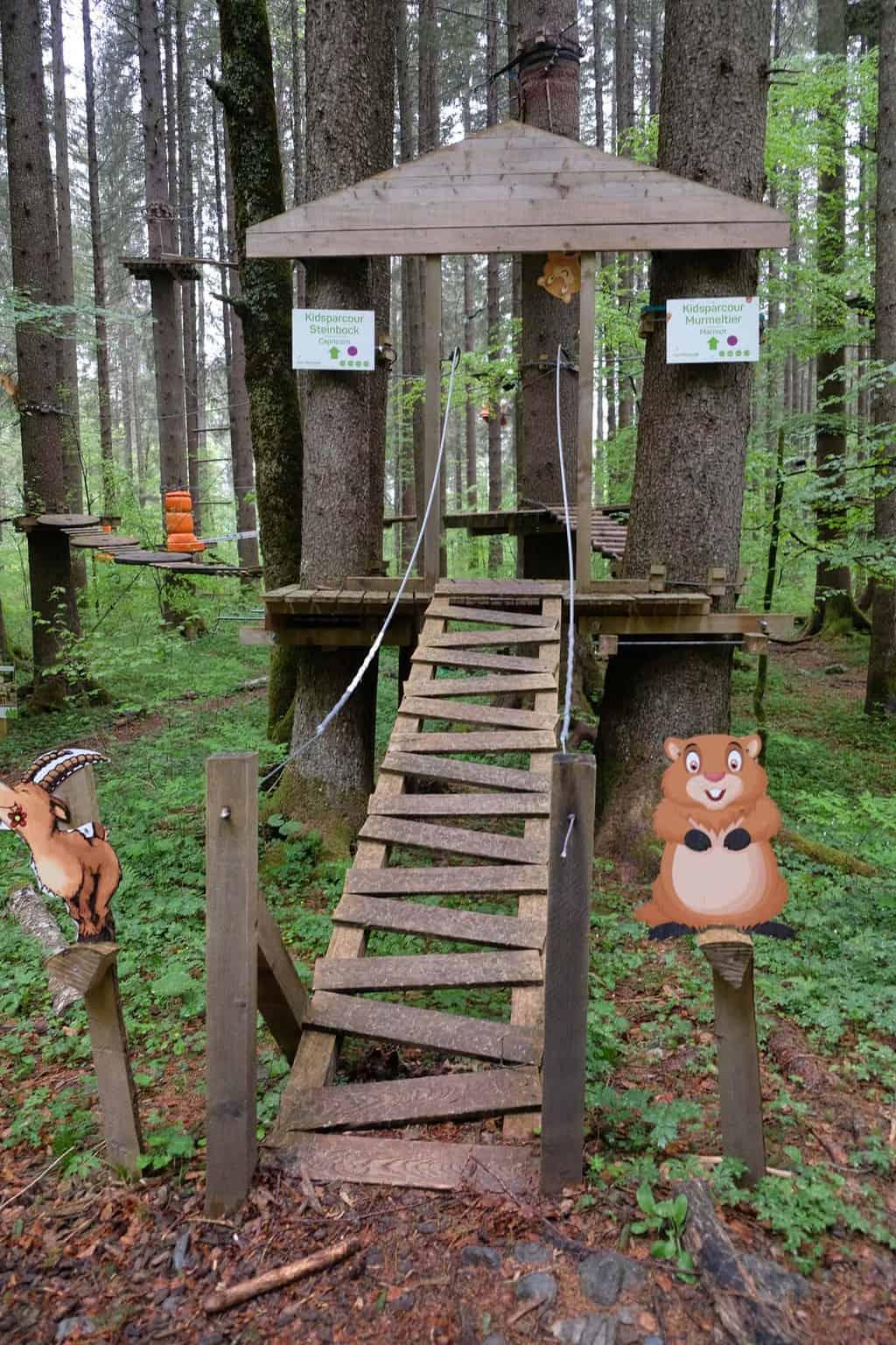 Engelberg zwitserland klimparcours