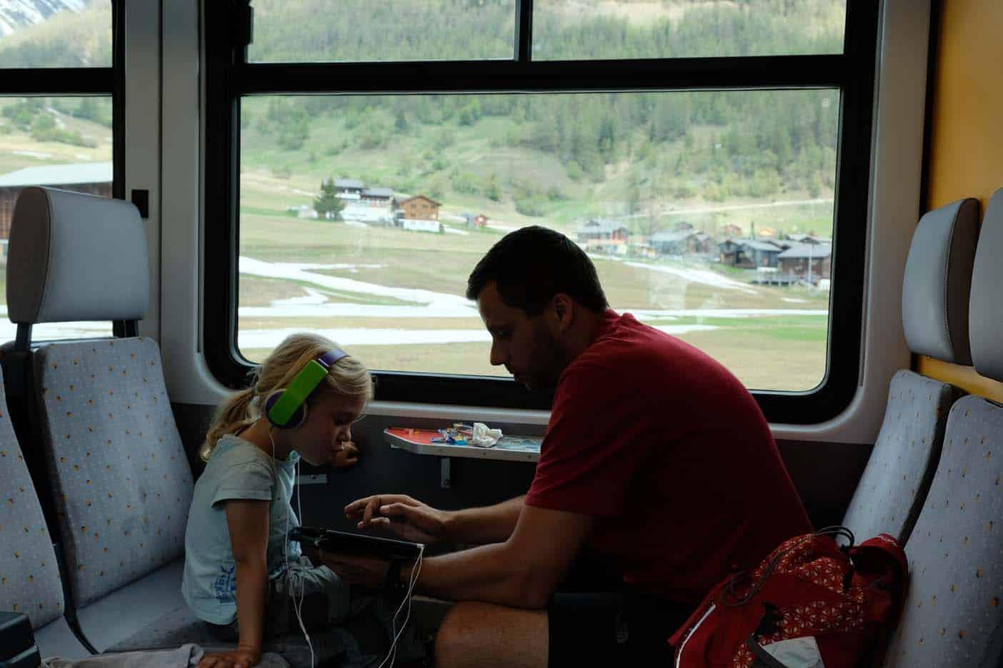 reizen met de trein zwitserland