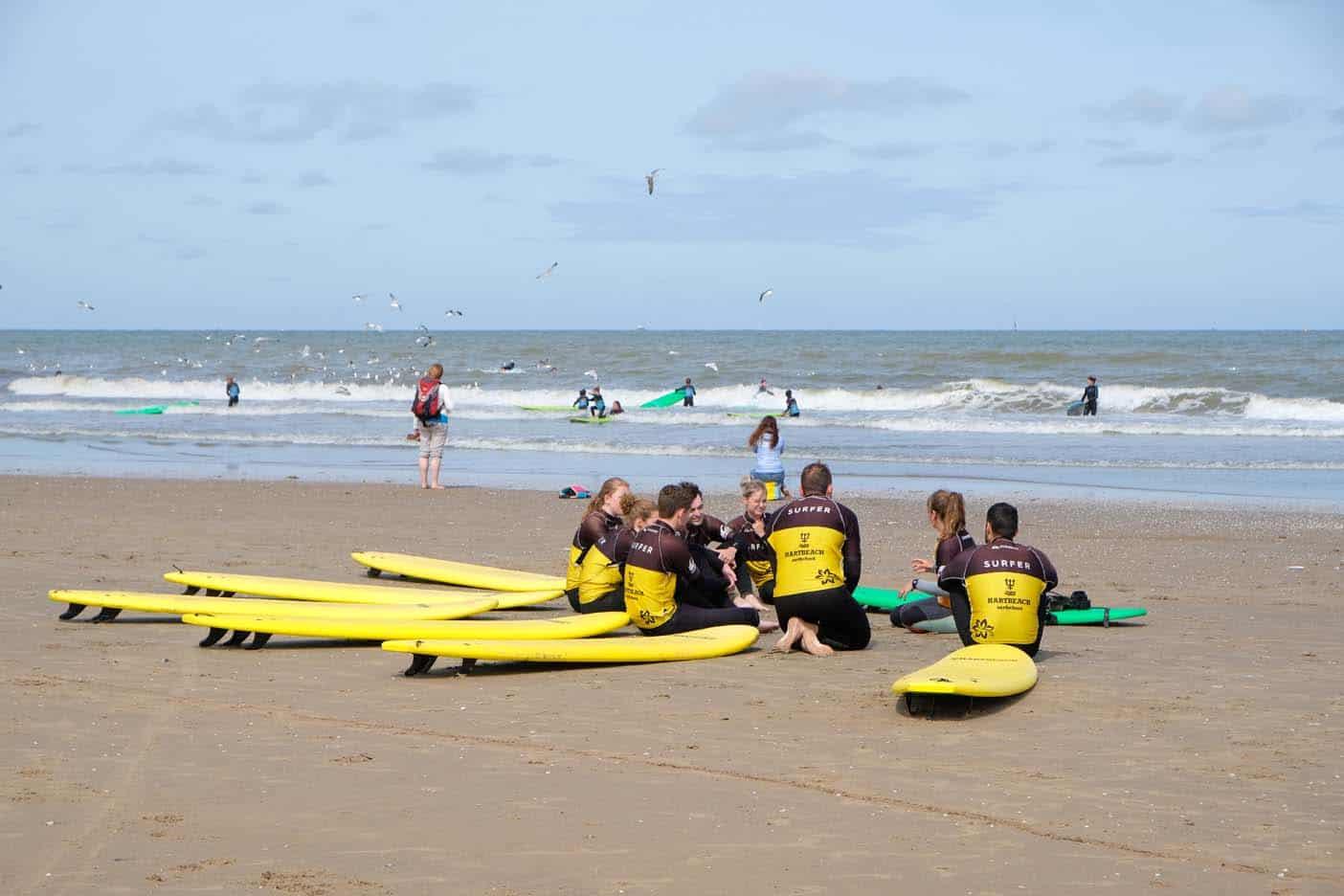 Scheveningen met kids surfles