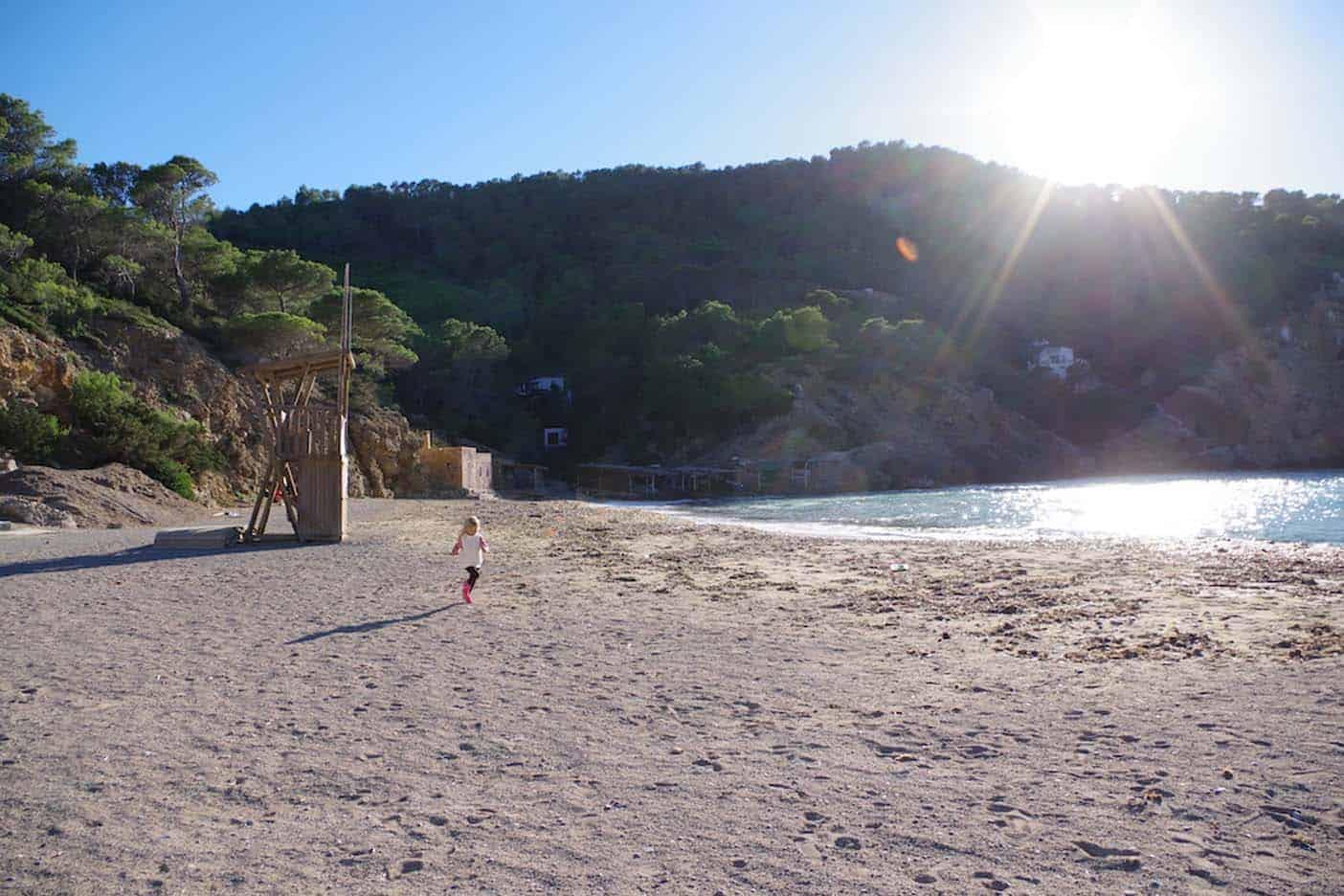 Ibiza met kinderen strand