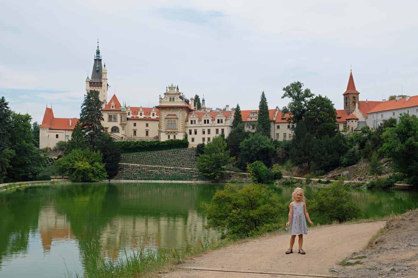 Midden bohemen kasteel Průhonice