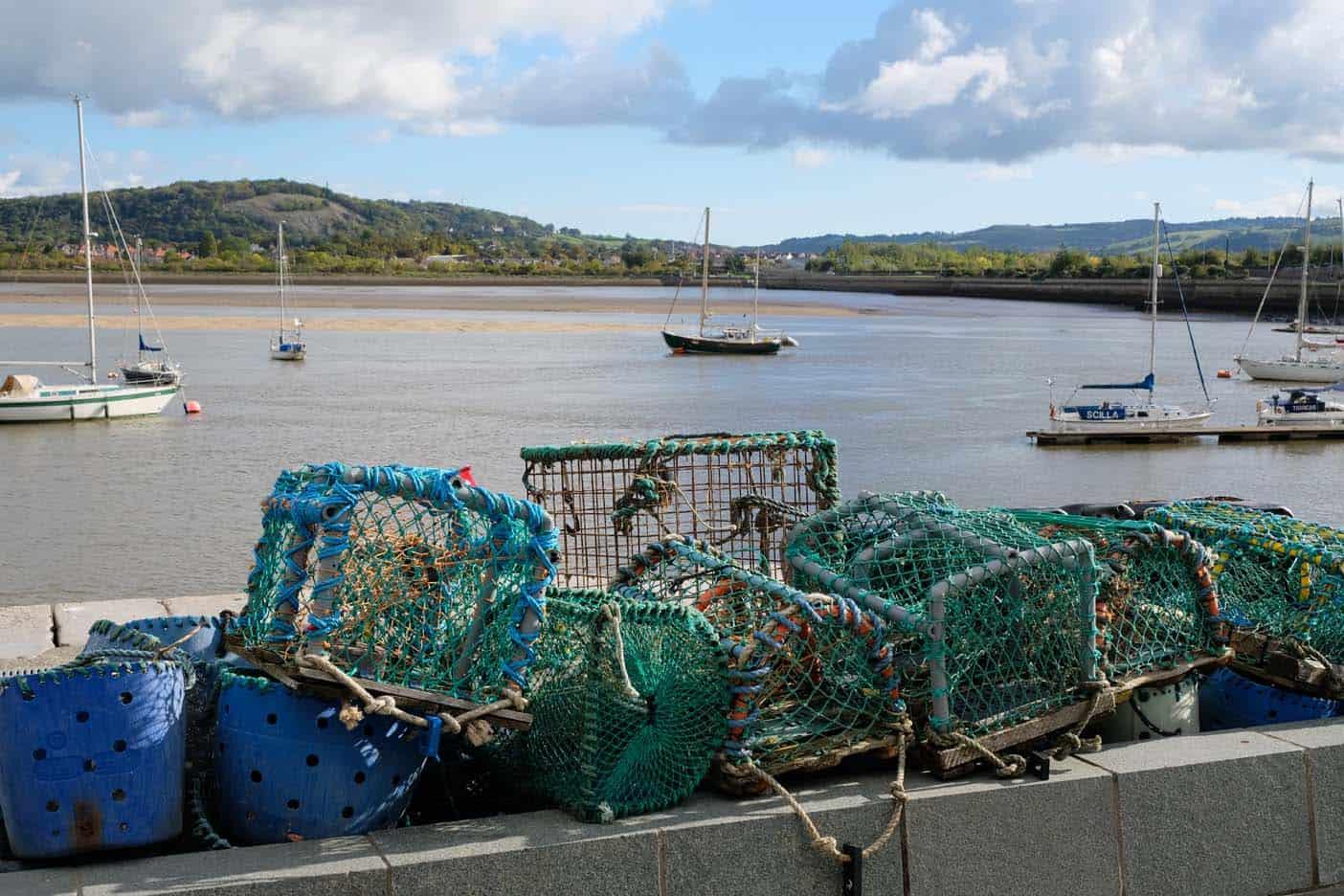 De haven van Conwy