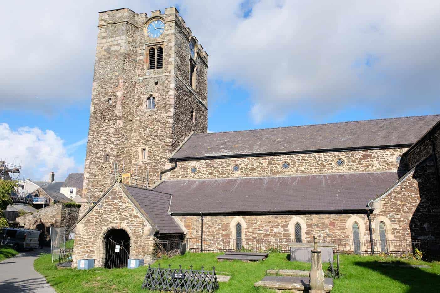 Het kerkhof Conwy