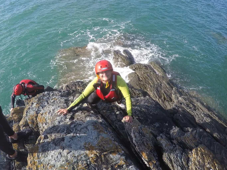 wales coasteering