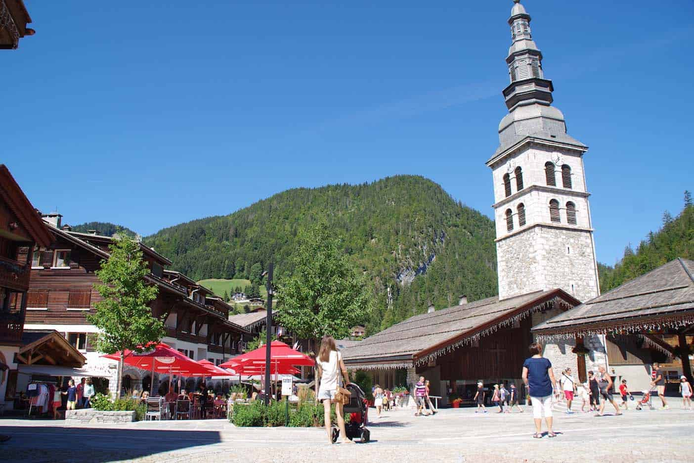 La clusaz franse alpen