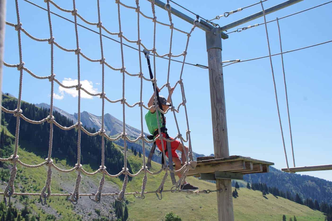La clusaz zomer franse alpen zipline