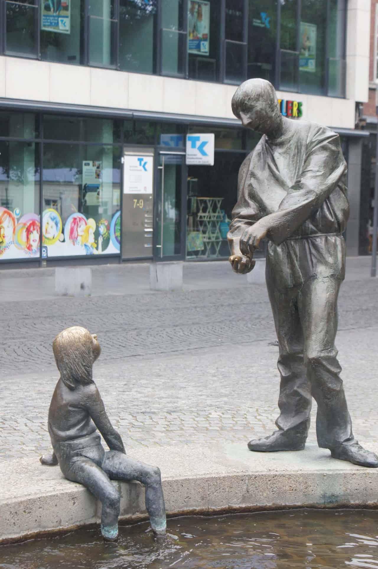 Aken met kinderen