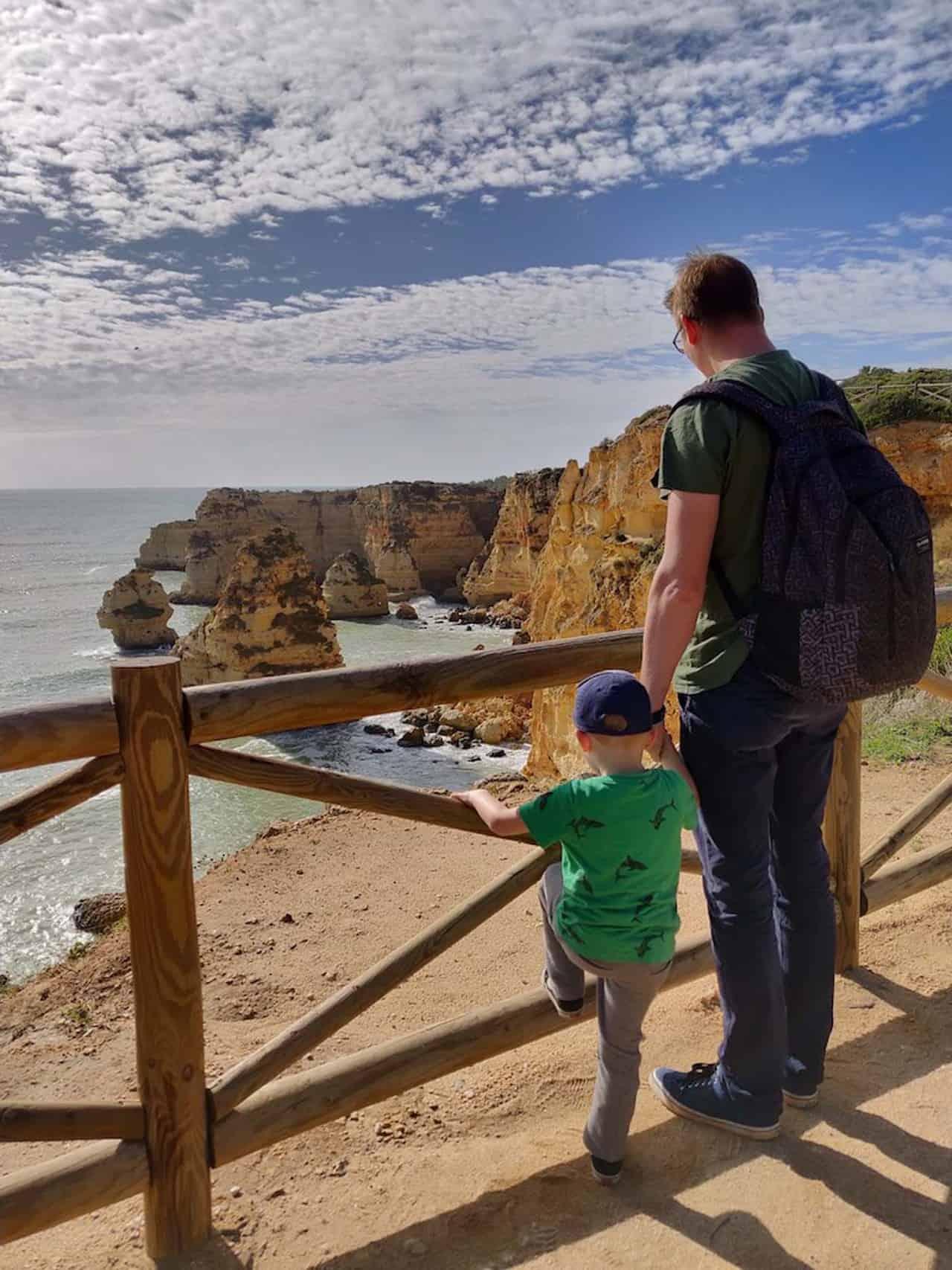 Algarve met kinderen Praia da Marinha 1