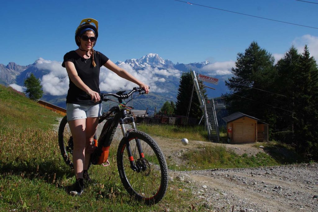 e-mountainbiken la plagne