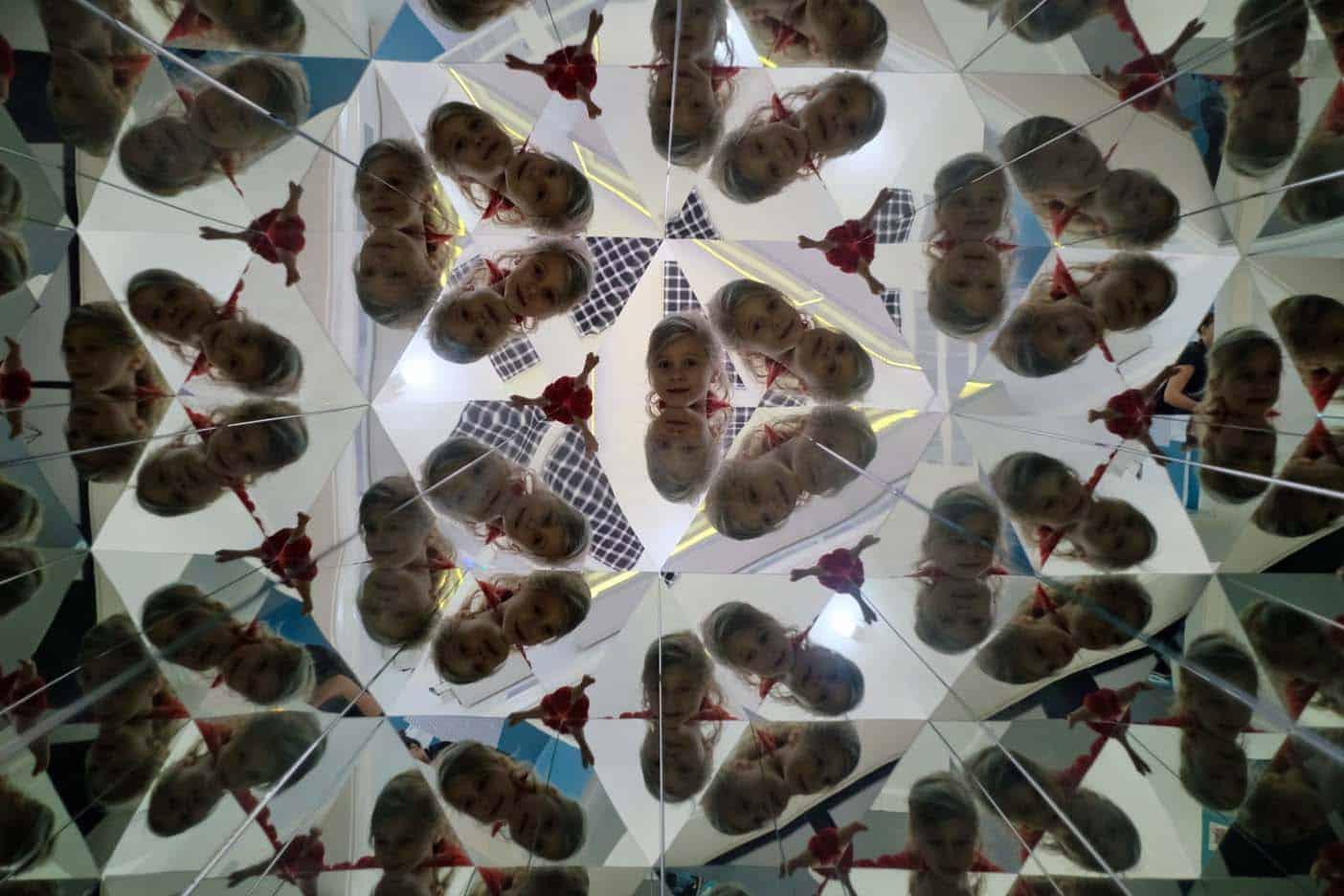 Wenen met kinderen museum van illusies