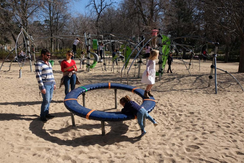 madrid met kinderen retiro park