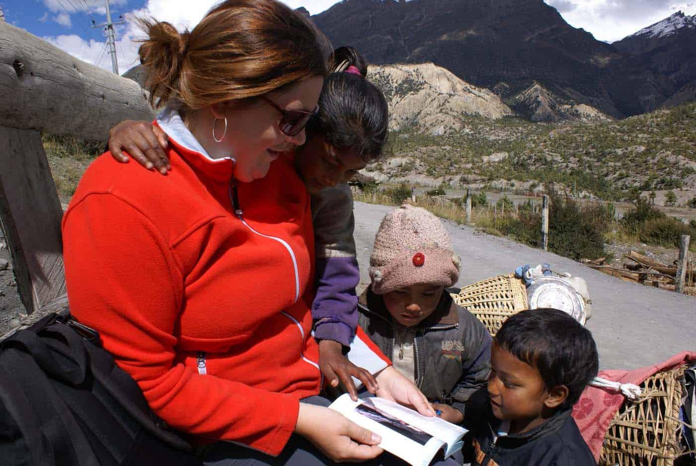 Nepal met kinderen