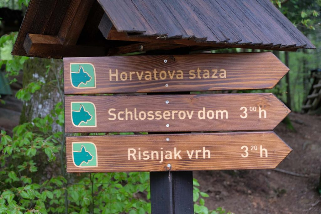 Leska Educational path Risnjak national park