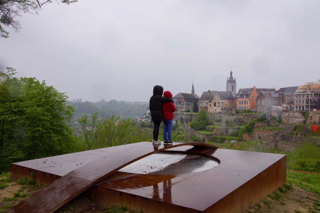 middeleeuwse stad Thuin