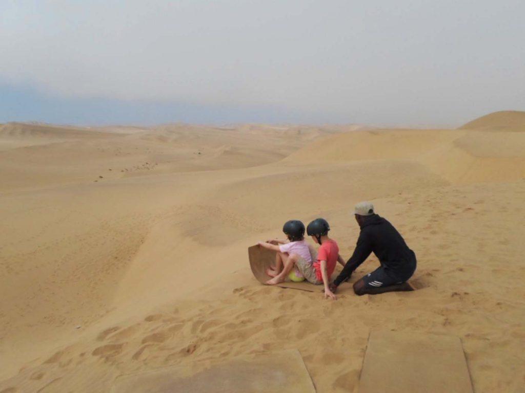 Swakopmund sandboarden