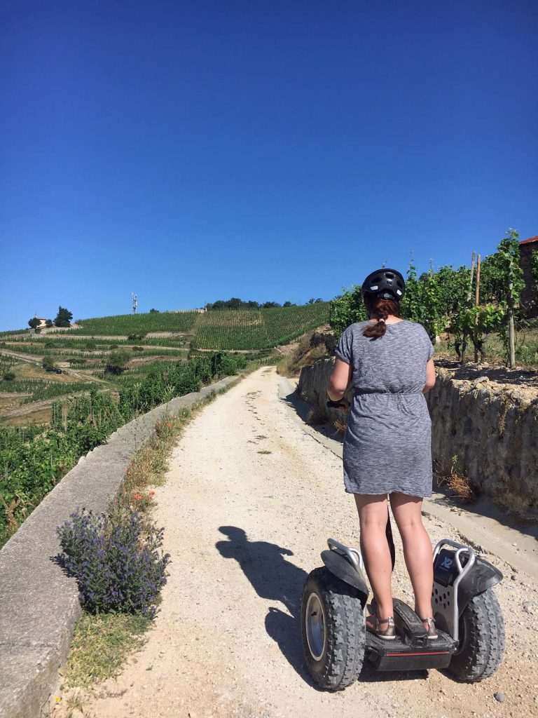 Met een segway door de wijnvelden