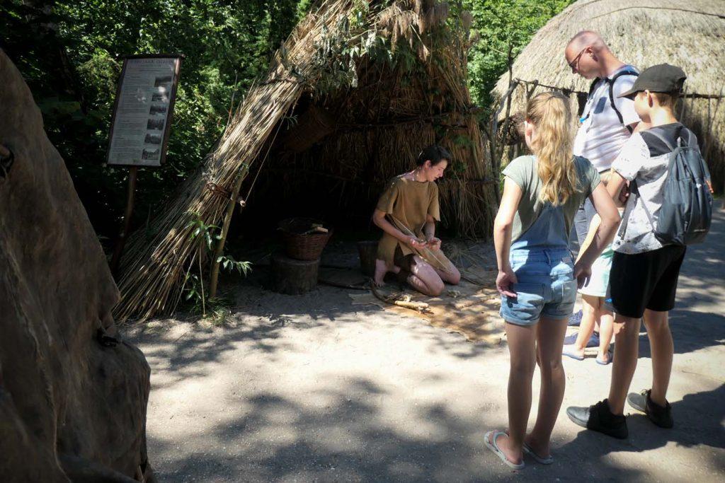 Archeon met kinderen
