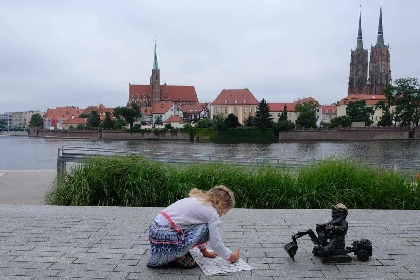Wroclaw met kinderen kabouter