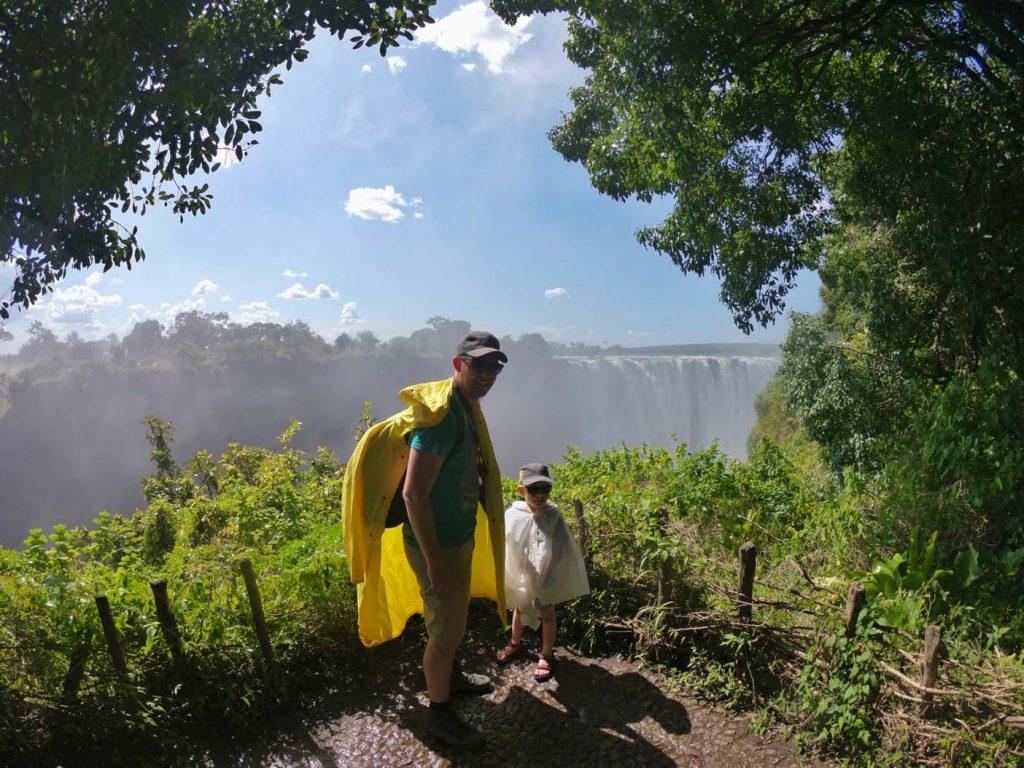 Wandelen naar de Victoria Falls