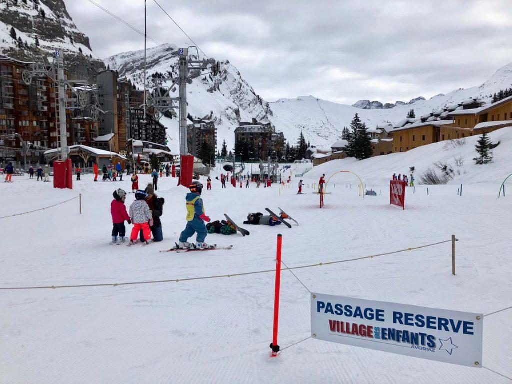 Skigebied Avoriaz met kinderen