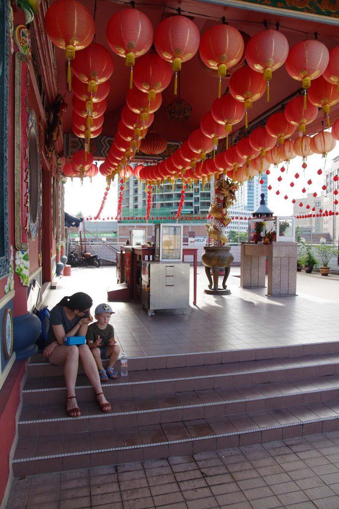 Maleisie borneo kuching chinese tempel