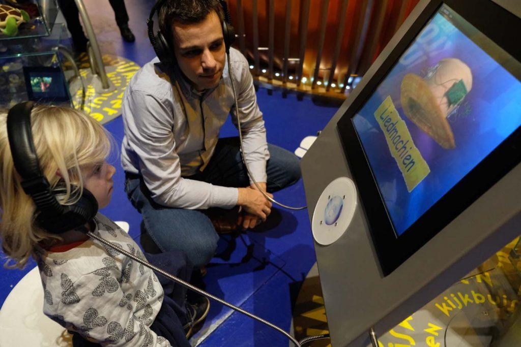 Interactief museum kinderen beeld en geluid