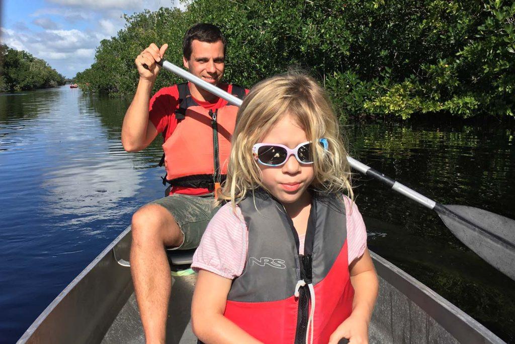 Everglades met kinderen kajakken